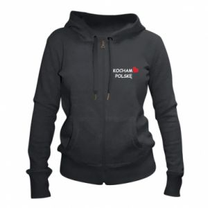 Women's zip up hoodies I love Poland - PrintSalon