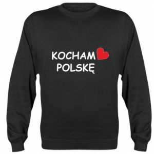 Sweatshirt I love Poland - PrintSalon