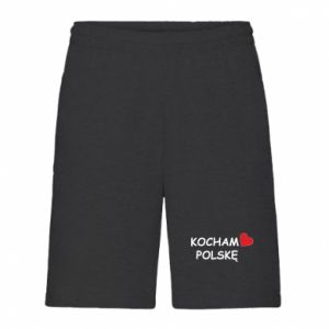 Men's shorts I love Poland - PrintSalon