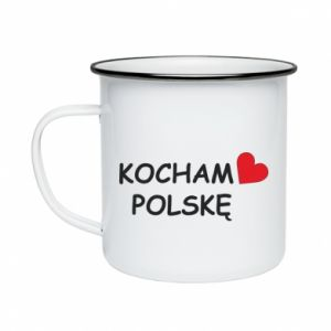 Enameled mug I love Poland - PrintSalon