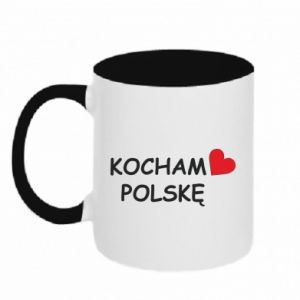 Two-toned mug I love Poland - PrintSalon
