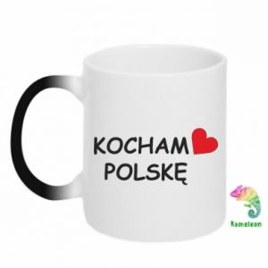 Chameleon mugs I love Poland - PrintSalon