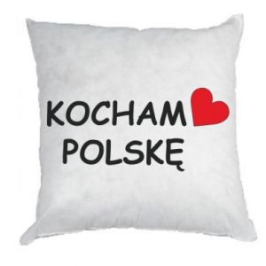 Pillow I love Poland - PrintSalon