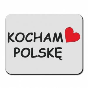 Mouse pad I love Poland - PrintSalon