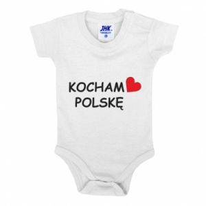 Baby bodysuit I love Poland - PrintSalon