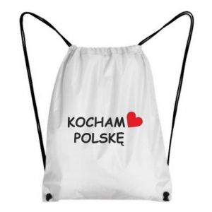 Backpack-bag I love Poland - PrintSalon