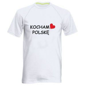 Men's sports t-shirt I love Poland - PrintSalon