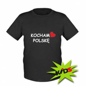 Kids T-shirt I love Poland - PrintSalon