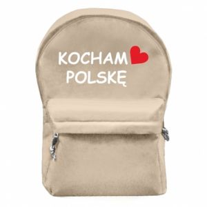 Backpack with front pocket I love Poland - PrintSalon