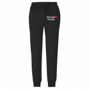 Męskie spodnie lekkie I love Poland