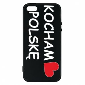 Phone case for iPhone 5/5S/SE I love Poland - PrintSalon