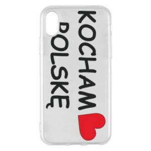 Phone case for iPhone X/Xs I love Poland - PrintSalon