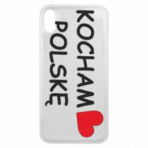 Phone case for iPhone Xs Max I love Poland - PrintSalon