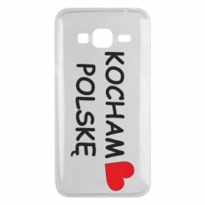 Phone case for Samsung J3 2016 I love Poland - PrintSalon