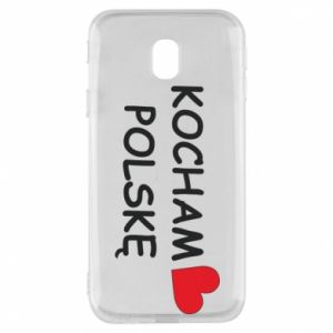 Phone case for Samsung J3 2017 I love Poland - PrintSalon