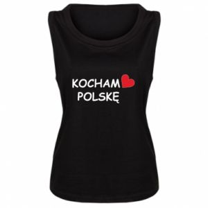 Women's t-shirt I love Poland - PrintSalon