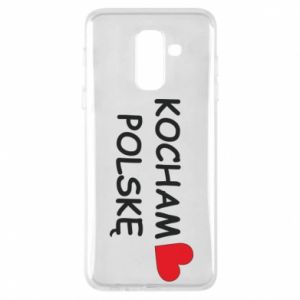 Phone case for Samsung A6+ 2018 I love Poland - PrintSalon