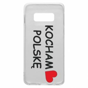 Phone case for Samsung S10e I love Poland - PrintSalon