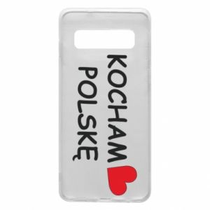 Phone case for Samsung S10 I love Poland - PrintSalon
