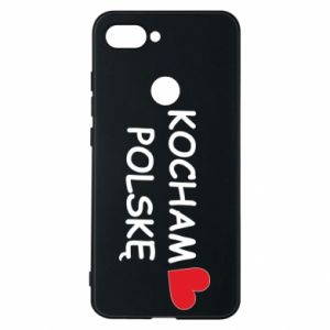Phone case for Xiaomi Mi8 Lite I love Poland - PrintSalon