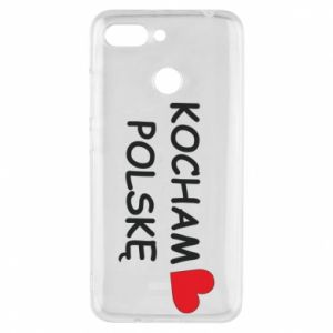 Phone case for Xiaomi Redmi 6 I love Poland - PrintSalon