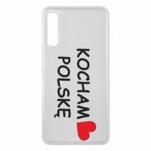 Phone case for Samsung A7 2018 I love Poland - PrintSalon