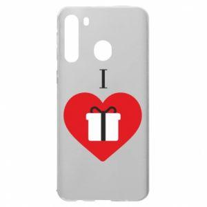 Samsung A21 Case I love presents