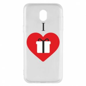Phone case for Samsung J5 2017 I love presents