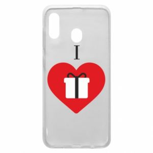 Phone case for Samsung A20 I love presents
