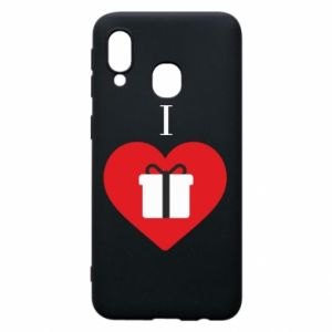 Phone case for Samsung A40 I love presents