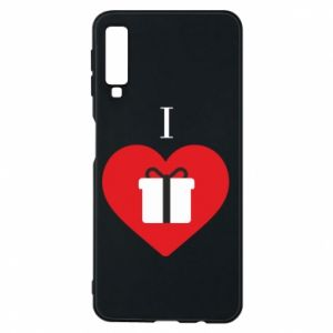 Phone case for Samsung A7 2018 I love presents