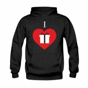 Kid's hoodie I love presents