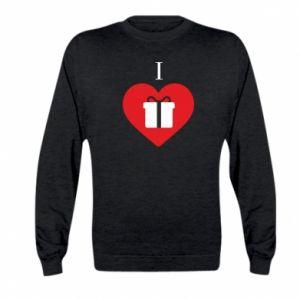 Kid's sweatshirt I love presents