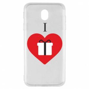Samsung J7 2017 Case I love presents