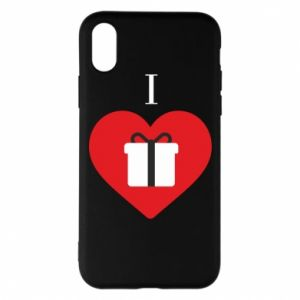 Phone case for iPhone X/Xs I love presents
