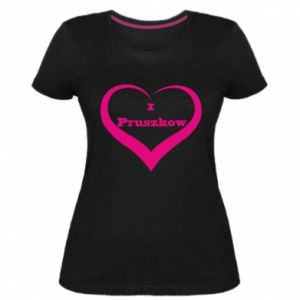 Damska premium koszulka I love Pruszkow - PrintSalon