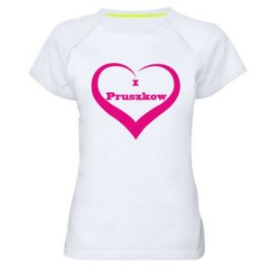Women's sports t-shirt I love Pruszkow