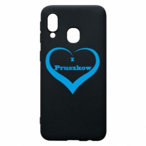 Phone case for Samsung A40 I love Pruszkow