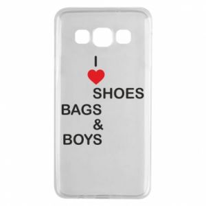 Etui na Samsung A3 2015 I love shoes, bags, boys