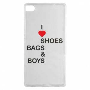Etui na Huawei P8 I love shoes, bags, boys