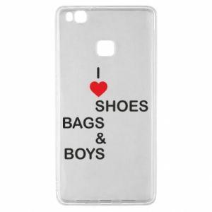 Etui na Huawei P9 Lite I love shoes, bags, boys