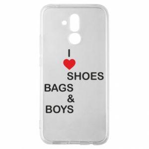 Etui na Huawei Mate 20 Lite I love shoes, bags, boys