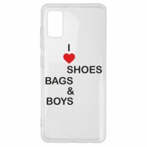 Etui na Samsung A41 I love shoes, bags, boys
