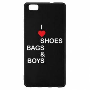Etui na Huawei P 8 Lite I love shoes, bags, boys