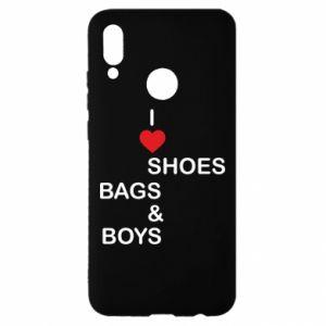 Etui na Huawei P Smart 2019 I love shoes, bags, boys