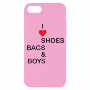 Etui na iPhone SE 2020 I love shoes, bags, boys