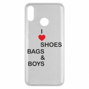 Etui na Huawei Y9 2019 I love shoes, bags, boys