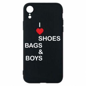 Etui na iPhone XR I love shoes, bags, boys