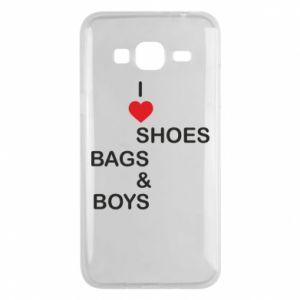 Etui na Samsung J3 2016 I love shoes, bags, boys