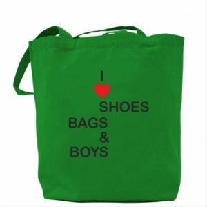Torba I love shoes, bags, boys